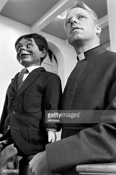 Martin Tunnicliffe from all Saints shard end used a ventriloquist's dummy as a 'visual aid to put over the Christian Gospel' at his service today...