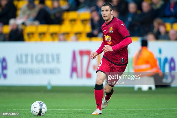 Martin Vingaard of FC Nordsjaelland in action during the Superliga football match between FC Nordsjaelland and Aalborg BK in Farum Park Stadium on...