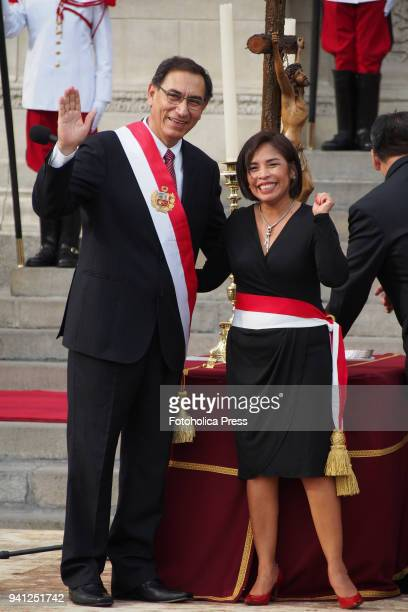Martin Vizcarra new president of Peru takes oath to Patricia Balbuena Palacios as Minister of Culture at government palace Vizcarra became president...