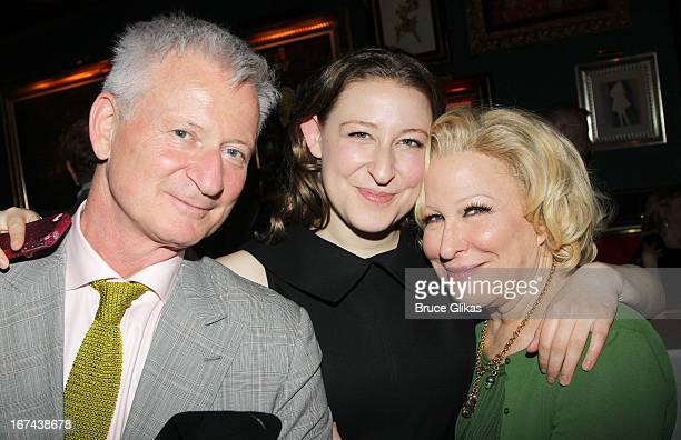 Martin Von Haselberg Sophie Von Haselberg and Bette Midler attend the I'll Eat You Last A Chat With Sue Mengers Broadway opening night afterparty at...