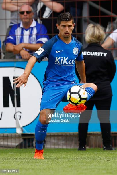 Martin Wagner of Meppen during the 3 Liga match between SV Meppen and FC Wuerzburger Kickers at Haensch Arena on July 22 2017 in Meppen Germany