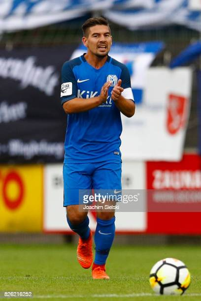 Martin Wagner of Meppen during the 3 Liga match between SV Meppen and 1 FC Magdeburg at Haensch Arena on August 2 2017 in Meppen Germany