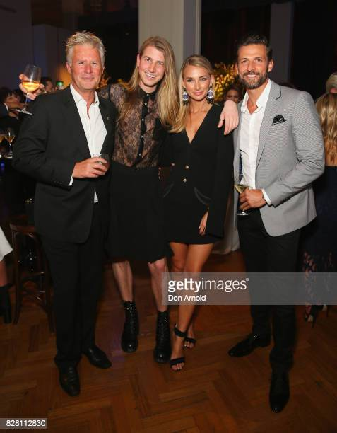 Martin Walsh Christian Wilkins Anna Heinrich and Tim Robards pose at the David Jones Spring Summer 2017 Collections Launch after party at David Jones...