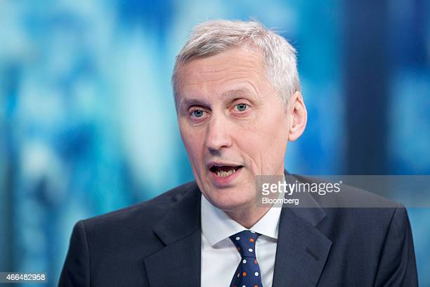 Martin Wheatley chief executive officer of the UK Financial Conduct Authority speaks during a Bloomberg Television interview in London UK on Monday...