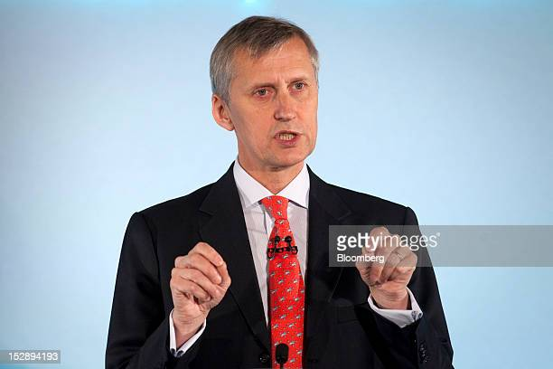 Martin Wheatley managing director of the Financial Services Authority speaks during a news conference at the Mansion House in London UK on Friday...