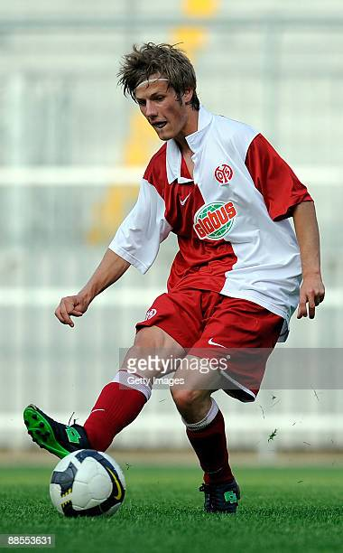 Martin Wilk of FSV Mainz 05 U19 during the A Juniors Semi Final first leg match between FSV Mainz 05 and Werder Bremen at the Bruchweg stadium on...