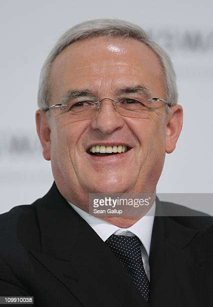 Martin Winterkorn Chairman of German carmaker Volkswagen AG speaks at the company's annual press conference on March 10 2011 in Wolfsburg Germany...