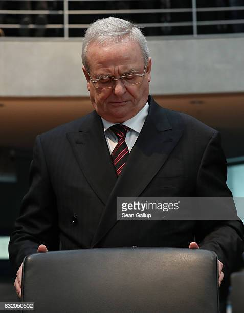 Martin Winterkorn former CEO of German automaker Volkswagen AG arrives to testify at the Bundestag commission investigating the Volkswagen diesel...