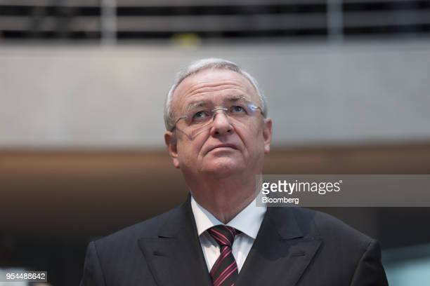 Martin Winterkorn the former chief executive officer of Volkswagen AG arrives to testify to a parliamentary committee in the Bundestag in Berlin...