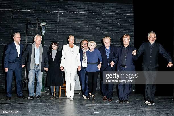 Martin Woelffer, Jim Rakete, Ute Willing, Anja Hauptmann, Harald Martenstein , Anita Kupsch, Klaus Hoffmann, Hawo Bleich and Ilja Richer attend the...