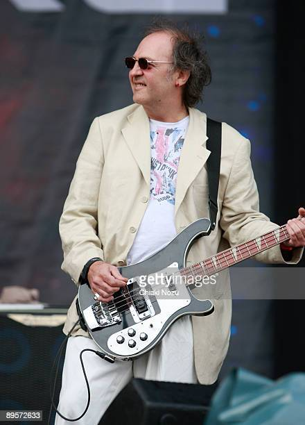 """Martin """"Youth"""" Glover of Killing Joke performs on stage at Knebworth House on August 2, 2009 in Stevenage, England."""