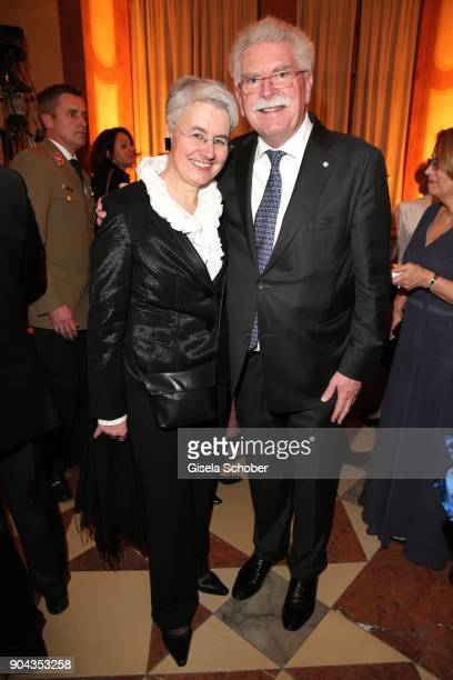 Martin Zeil and his wife Barbara DaumillerZeil during the new year reception of the Bavarian state government at Residenz on January 12 2018 in...