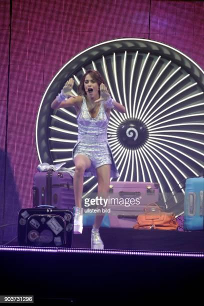 Martina Alejandra Stoessel Muzlera gastiert mit Disneys Telenovela 'Violetta Live in der LanxessArena Köln Neben Hauptdarstellerin Martina Stoessel...