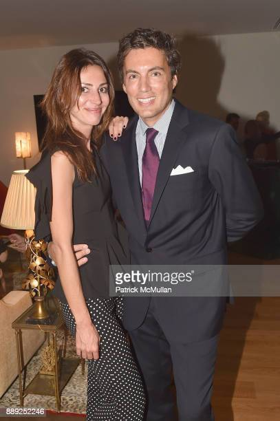 Martina Basabe and Fabian Basabe attend the Galerie Gmurzynska Dinner in Honor of Jean Pigozzi at the Penthouse at the Faena Hotel Miami Beach on...