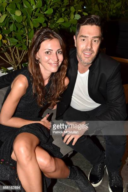 Martina Basabe and Marc Nudel attend the Unveiling of White Square by Richard Meier Partners at Citigroup Center on December 7 2017 in Miami Florida