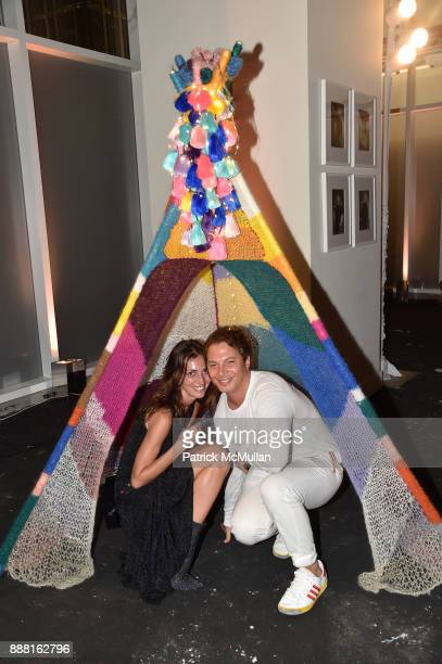 Martina Basabe and Nick D'Annunzio attend the Unveiling of White Square by Richard Meier Partners at Citigroup Center on December 7 2017 in Miami...