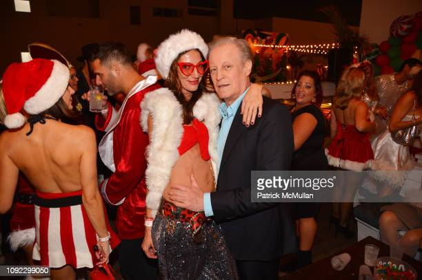 Martina Basabe and Patrick McMullan attend Bad Santa Party Hosted By Christina Getty Juan Pablo Cappello at Soho House Miami on December 1 2018 in...