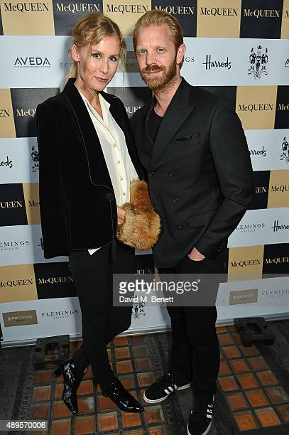 Martina Bjorn and Alistair Guy attend the exclusive viewing of 'McQueen' hosted by Karim Al Fayed for Lonely Rock Investments during London Fashion...
