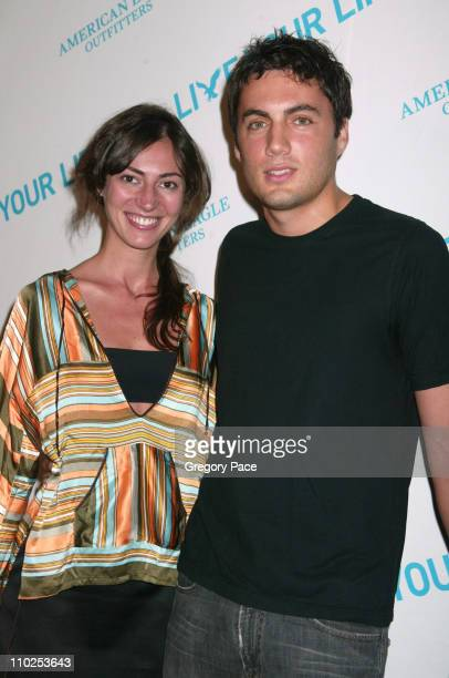 Martina Borgomanero Basabe and Fabian Basabe during American Eagle Announces Six Winners of National Live Your Life Contest at Union Square...