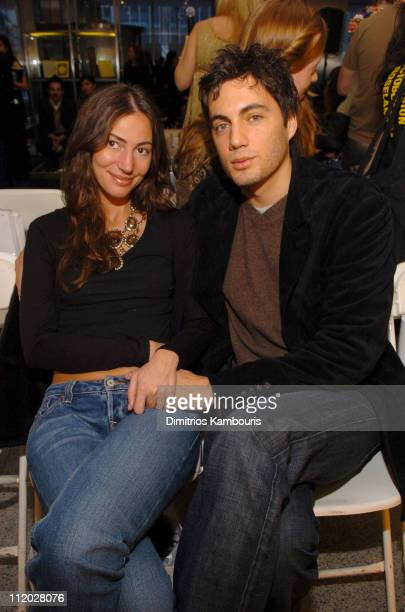 Martina Borgomanero Basabe and Fabian Basabe during Olympus Fashion Week Fall 2005 Imitation Of Christ Front Row at Lever House in New York City New...