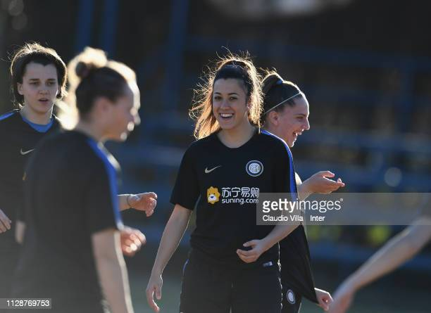 Martina Brustia of FC Internazionale Women in action during a training session at Suning Youth Development Centre in memory of Giacinto Facchetti on...