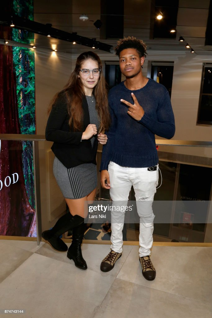 Martina Carosso and Eric Sarpong attend the Blu Perfer & Blue Brut Launch Party for The 2018 8th annual Better World Awards on November 15, 2017 in New York City.