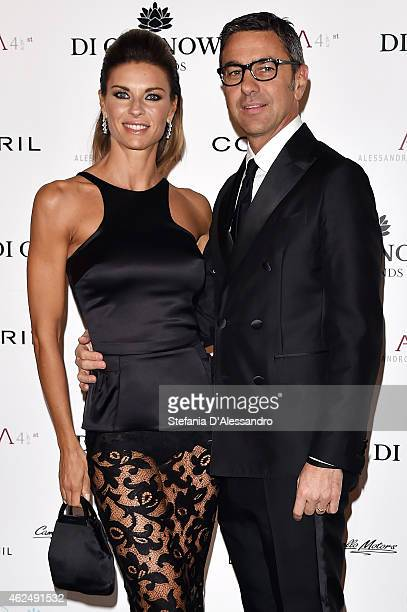 Martina Colombari and Alessandro Costacurta attend Alessandro Martorana's birthday party on January 29 2015 in Milan Italy
