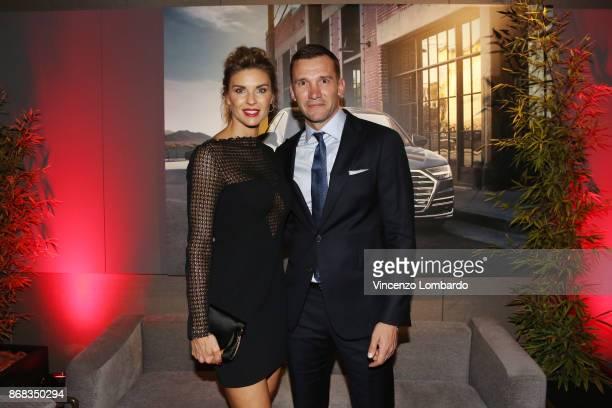 Martina Colombari and Andriy Shevchenko attend the 'La 25esima Ora New Audi A8 Launch' at Unicredit Pavilion on October 30 2017 in Milan Italy