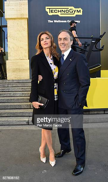 Martina Colombari and Nerio Alessandri attend the Technogym Listing Ceremony at Palazzo Mezzanotte on May 3 2016 in Milan Italy Technogym is the...
