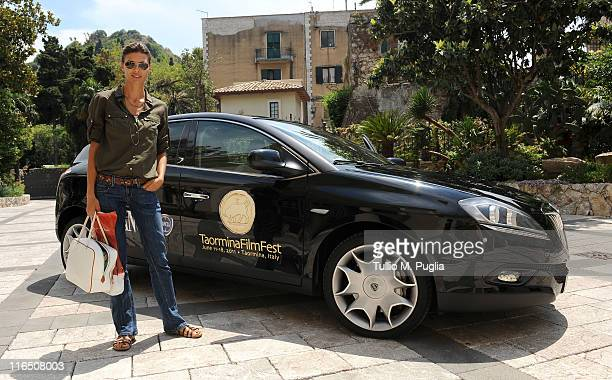 Martina Colombari arrive at the 57th Taormina Film Fest on June 16 2011 in Taormina Italy