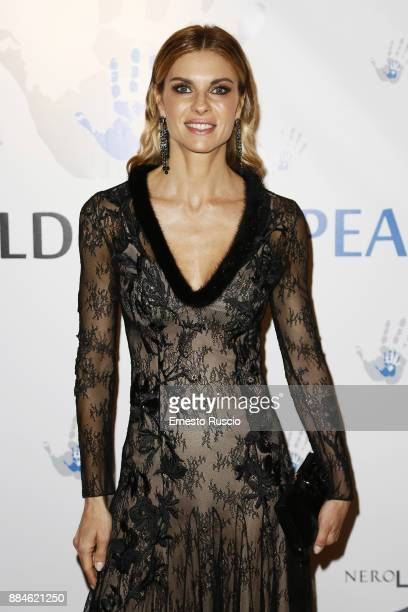 Martina Colombari arrives for the Children for Peace Gala Dinner at Cardinal Gallery on December 2 2017 in Rome Italy