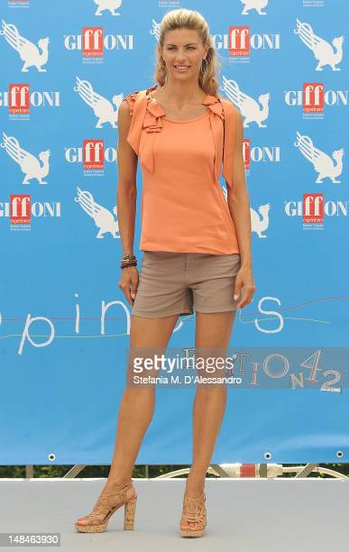 Martina Colombari attends 2012 Giffoni Film Festival Photocall on July 17 2012 in Giffoni Valle Piana Italy
