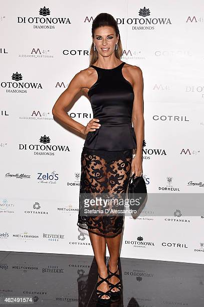 Martina Colombari attends Alessandro Martorana's birthday party on January 29 2015 in Milan Italy