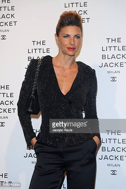 Martina Colombari attends Chanel The Little Black Jacket - Karl Lagerfeld Photography Exhibition Dinner Party on April 4, 2013 in Milan, Italy.