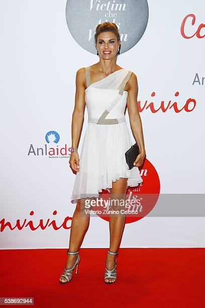 Martina Colombari attends Convivio 2016 photocall on June 7 2016 in Milan Italy
