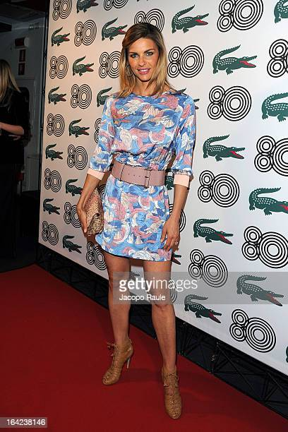 Martina Colombari attends Lacoste 80th Anniversary cocktail party at La Rinascente on March 21 2013 in Milan Italy