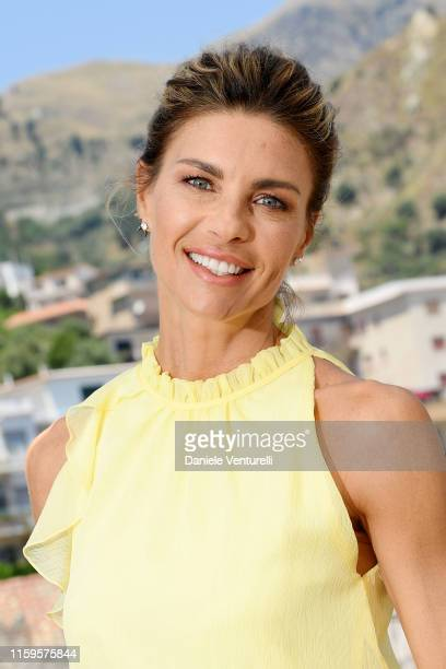 Martina Colombari attends the 65th Taormina Film Fest photocall at on July 02, 2019 in Taormina, Italy.