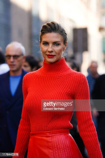 Martina Colombari attends the Ermanno Scervino show at Milan Fashion Week Spring Summer 2020 on September 21, 2019 in Milan, Italy.