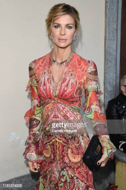 Martina Colombari attends the Etro show at Milan Fashion Week Autumn/Winter 2019/20 on February 22, 2019 in Milan, Italy.