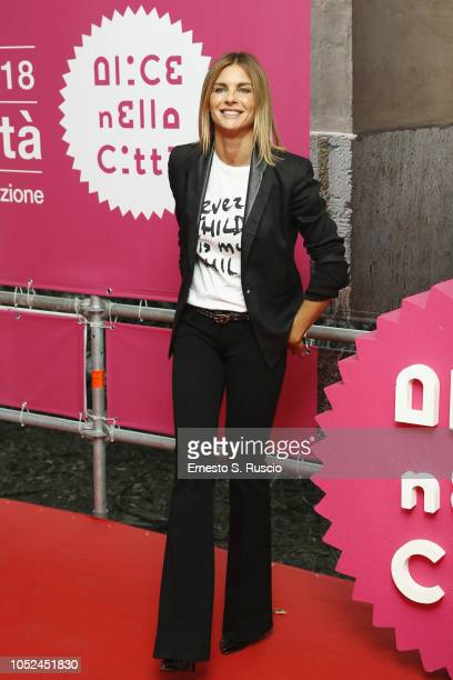 "Martina Colombari attends the ""Every Child Is My Child"" photocall as part of ""Alice Nella Citta"" during the 13th Rome Film Fest at Auditorium Parco..."