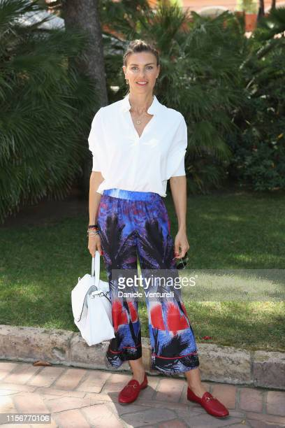 Martina Colombari attends the Filming Italy Sardegna Festival 2019 Day 1 Photocall at Forte Village Resort on June 13, 2019 in Cagliari, Italy.