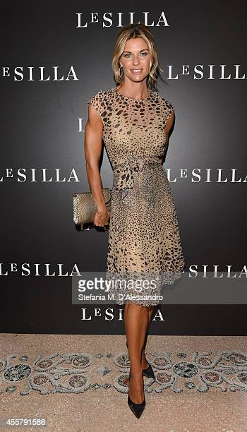 Martina Colombari attends the Le Silla Spring/Summer 2015 Collection Presentation as part of Milan Fashion Week Womenswear Spring/Summer 2015 on...