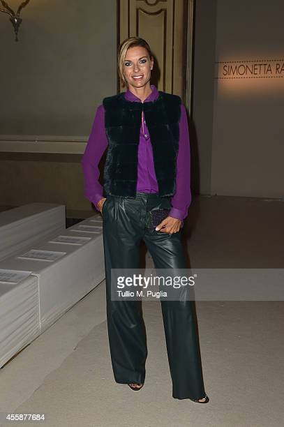 Martina Colombari attends the Simonetta Ravizza show during the Milan Fashion Week Womenswear Spring/Summer 2015 on September 21 2014 in Milan Italy