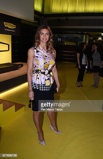 Martina Colombari attends the Technogym Listing Ceremony at Palazzo Mezzanotte on May 3 2016 in Milan Italy Technogym is the world leader in the...