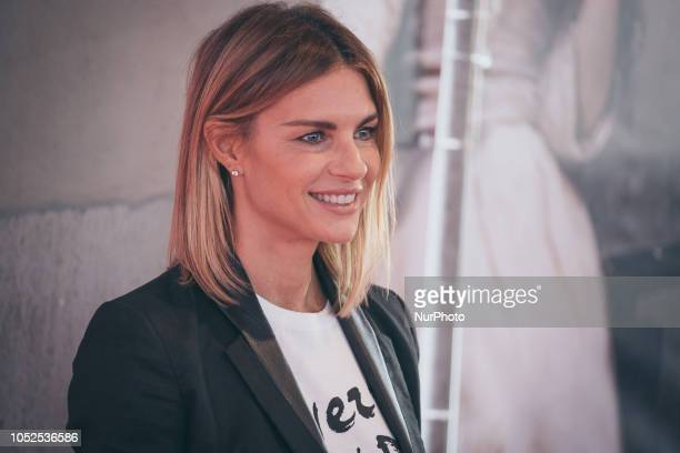 Martina Colombari walks the red carpet ahead of the 'Bad Times At The El Royale ' screening during the 13th Rome Film Fest at Auditorium Parco Della...
