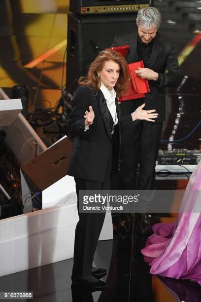 Martina Corgnati attends the fourth night of the 68 Sanremo Music Festival on February 9 2018 in Sanremo Italy