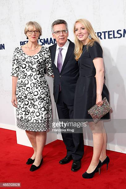 Martina de Maizieie Thomas de Maiziere and Nora de Maiziere attend the Bertelsmann Summer Party at the Bertelsmann representative office on September...