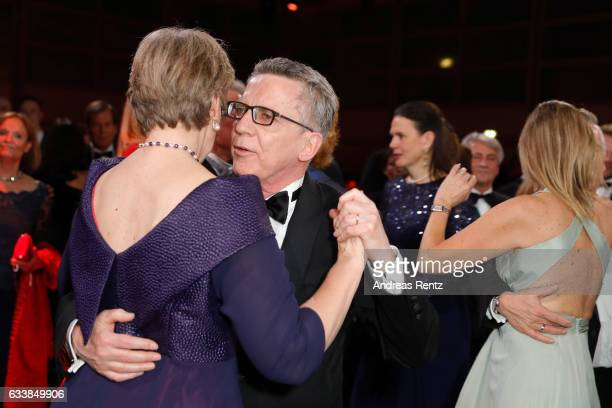 Martina de Maiziere and Thomas de Maiziere dance during the German Sports Gala 'Ball des Sports 2017' on February 4 2017 in Wiesbaden Germany