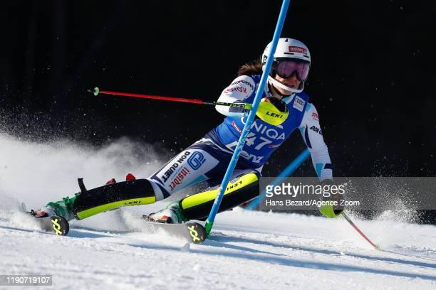 Martina Dubovska of Czech Republic competes during the Audi FIS Alpine Ski World Cup Women's Slalom on December 29, 2019 in Lienz Austria.