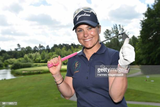 Martina Eberl during the 7 M M EAGLES Charity LEDERHOS'N Golf Cup 2018 at Golfclub Castle EGMATING on June 22 2018 in Munich Germany In Occasion of...